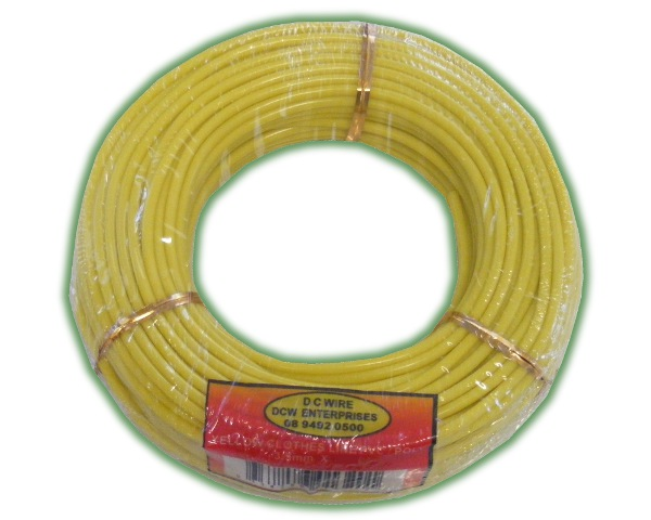 Clothes Line Yellow PVC Poly Core 3.5mm x 30m (CLYPC3.5 30)