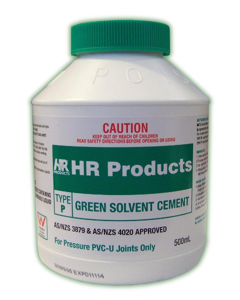 HR Green Solvent Cement Type P 500ml (GLUE PVC 500ML)