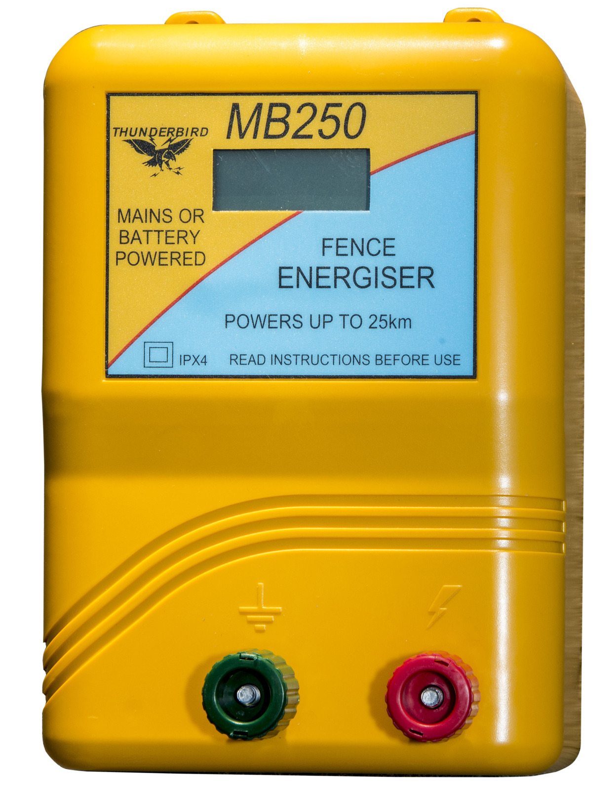 Thunderbird Mains/Battery Energiser 25km (TBMB250)