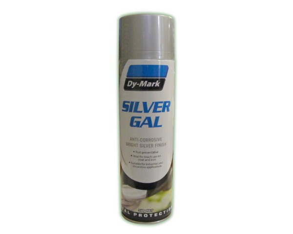 Silver Galvanised Spray Paint 350g Silver Gal Rural