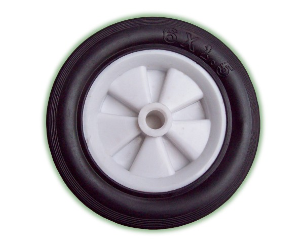 Wheel W/PVC Rim 152x38mm x 13mm Axle (W/PVC152)